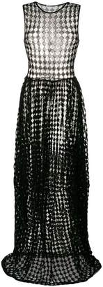 Jil Sander sheer diamond print dress