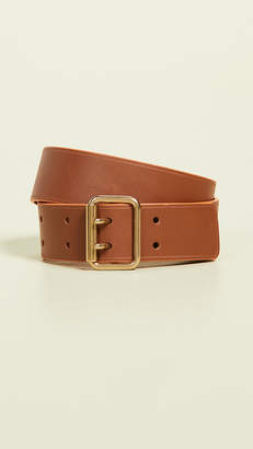 MAISON BOINET 30mm Color Contrasting Leather Belt