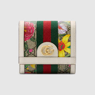 Gucci Ophidia GG Flora card case wallet