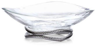 Nambe Chrome Braid Glass Bowl