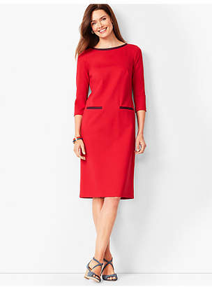 Talbots Refined Ponte Sheath Dress