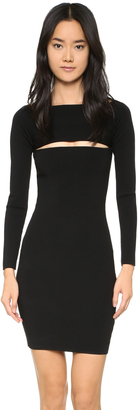 T by Alexander Wang Needle Knit Bandeau Dress $450 thestylecure.com