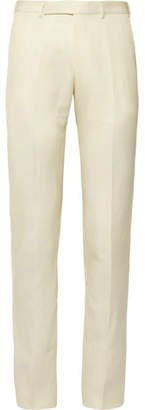 Ermenegildo Zegna Slim-Fit Wool And Linen-Blend Trousers