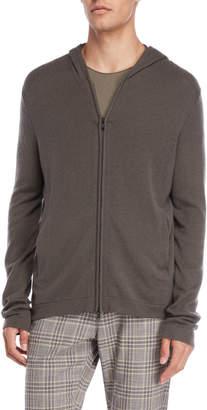 American Designer Grey Zip Cashmere Hoodie
