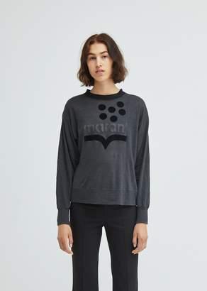 Etoile Isabel Marant Klowyn Logo Linen Sweatshirt
