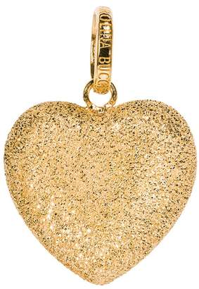 Carolina Bucci Small Florentine Finish Heart Cuore Charm Pendant - Yellow Gold