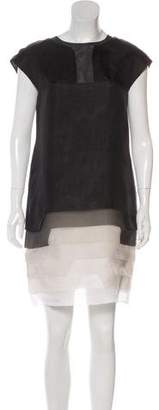 Fendi Silk Organza Mini Dress