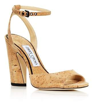 Jimmy Choo Women's Miranda 100 Cork High-Heel Sandals