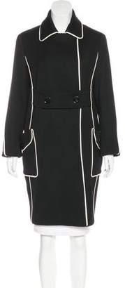 Versace Wool Knee-Length Coat