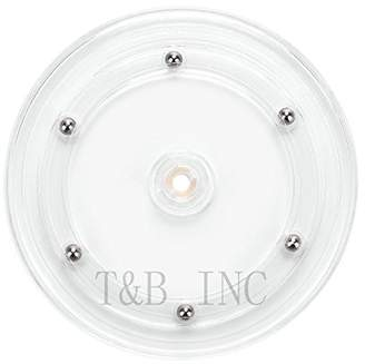 Tory Burch T&B 6 inch Lazy Susan Turntable Organizer White Acrylic for Spice Rack Table Cake Kitchen Pantry Decorating
