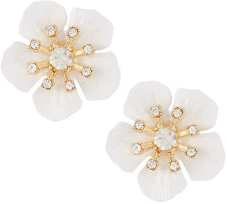 Emily and Ashley Greenbeads By Fiesta Flower Stud Earrings, White