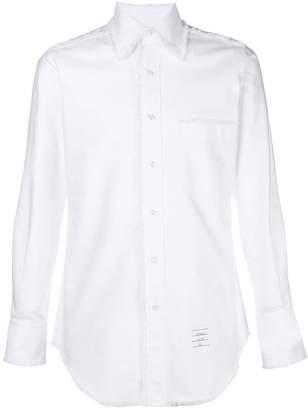 Thom Browne Frayed Placket Oxford Shirt