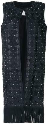 Yves Salomon fringed long waistcoat