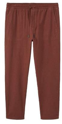Mango man MANGO MAN Linen-blend jogging trousers