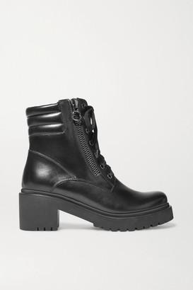Moncler Viviane Leather Ankle Boots - Black