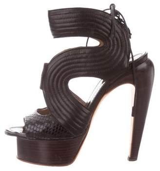 Proenza Schouler Cage Platform Sandals