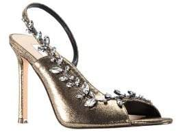 Nina Deanne Bejeweled Metallic d'Orsay Sandals