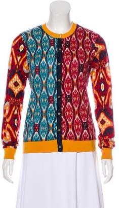 Tory Burch Printed Wool Cardigan