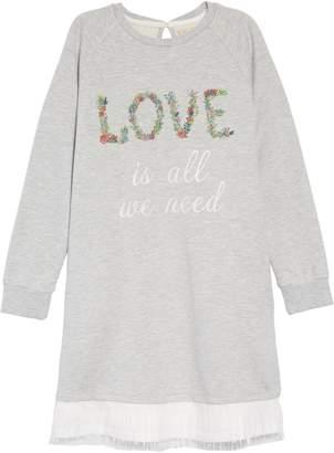 Peek Love Is All We Need Sweatshirt Dress