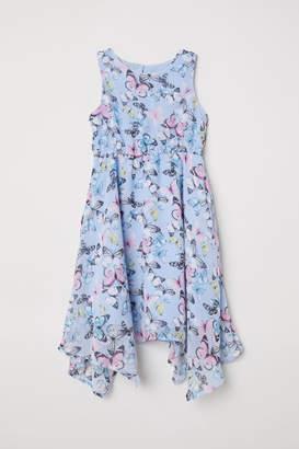 H&M Sleeveless Chiffon Dress - Blue