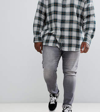 Jacamo Plus skinny jeans in washed gray