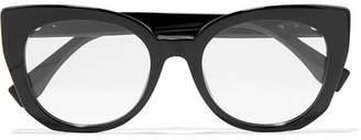 Fendi Cat-eye Acetate Optical Glasses - Black