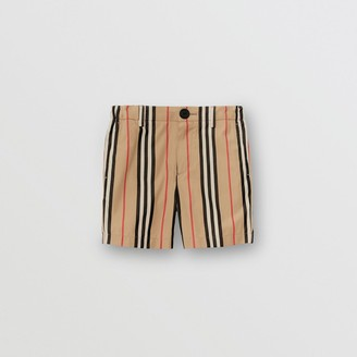 Burberry Icon Stripe Cotton Chino Shorts