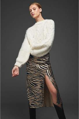 Anine Bing Dolly Silk Skirt - Zebra