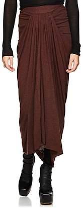 Rick Owens Women's Draped Jersey Midi-Skirt - Wine