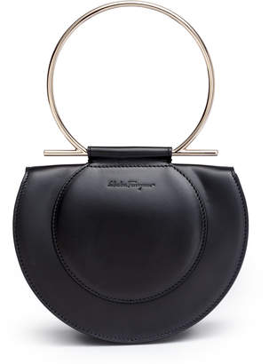 Salvatore Ferragamo Daphne Gancino black shoulder bag