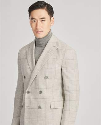 Ralph Lauren Windowpane Tweed Suit Jacket