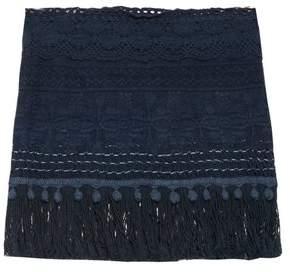 Vmt - Careyes Natalie Crochet Mini Skirt - Womens - Navy