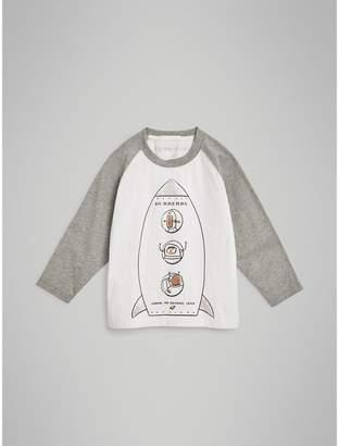 Burberry Childrens Long-sleeve Rocket Graphic Cotton T-shirt