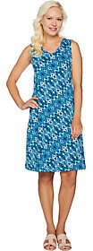 Denim & Co. Printed Sleeveless V-Neck Dress