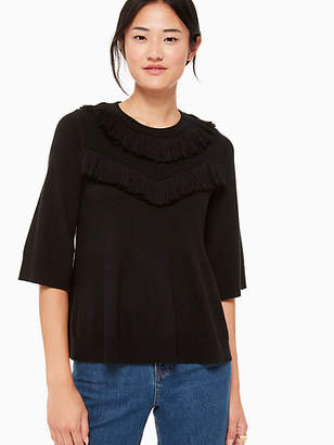 Kate Spade Fringe pullover sweater