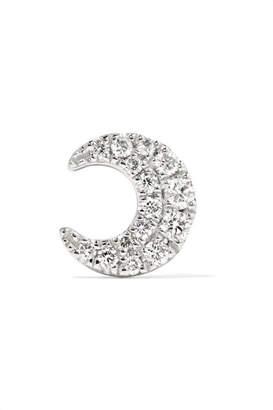 Maria Tash - Moon 18-karat White Gold Diamond Earring