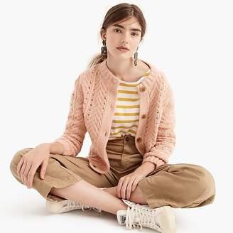 J.Crew Point Sur pointelle knit cardigan sweater