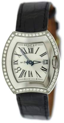 Bedat & Co 334.040.101 No.3 Stainless Steel & Leather Diamond Quartz 31mm Womens Watch
