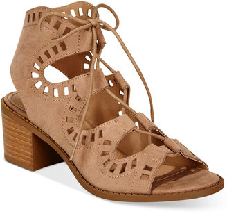 Esprit Lotus Block-Heel Lace-Up Sandals $55 thestylecure.com