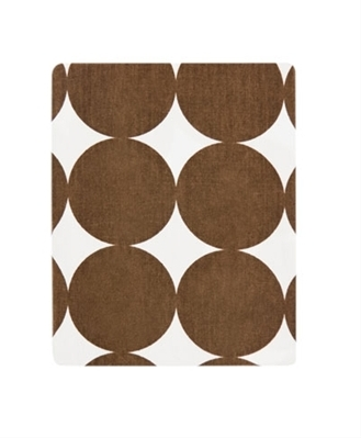 Chocolate Dots Fitted Crib Sheet