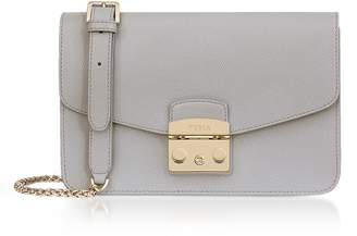Furla Genuine Leather Metropolis Small Shoulder Bag