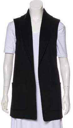 Michael Kors Virgin Wool Open Front Vest