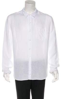 James Perse Linen Button-Up Shirt
