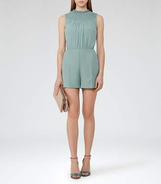 Reiss Arizona Smocking-Detail Playsuit