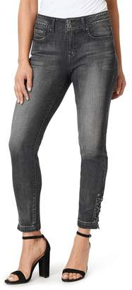 Angels Women's Curvy Fit Midrise Skinny Ankle Jeans
