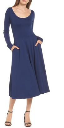 Women's Leith Long Sleeve Midi Dress $79 thestylecure.com