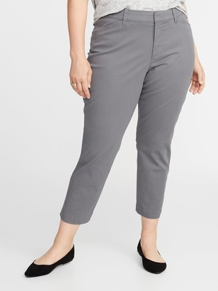 Old Navy Mid-Rise Secret-Slim Pockets Plus-Size Pixie Chinos