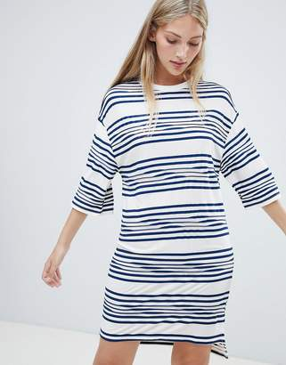 NATIVE YOUTH striped t shirt dress