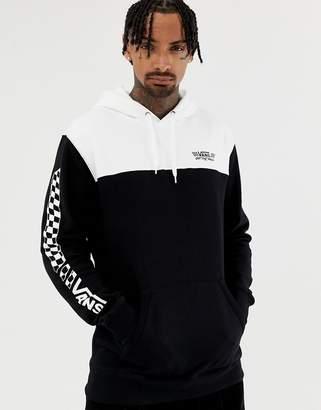 Vans color block hoodie in black VN0A3HSRY281