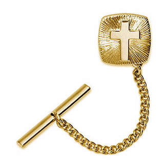 Asstd National Brand Gold-Plated Cross Starburst Tie Tack